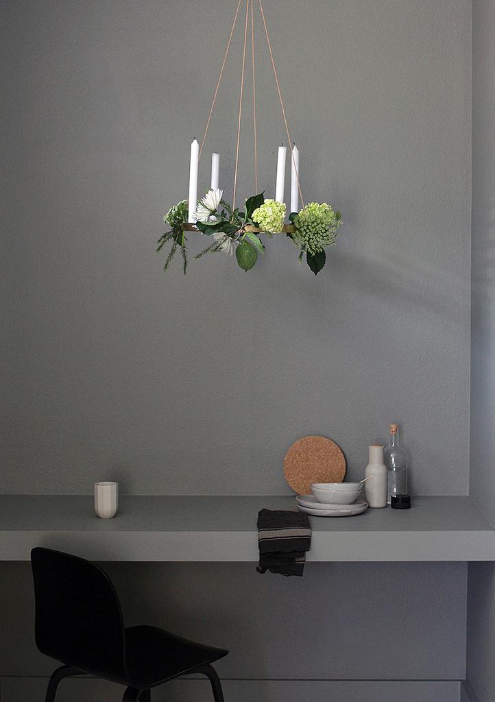 floral chandelier DIY with DLK