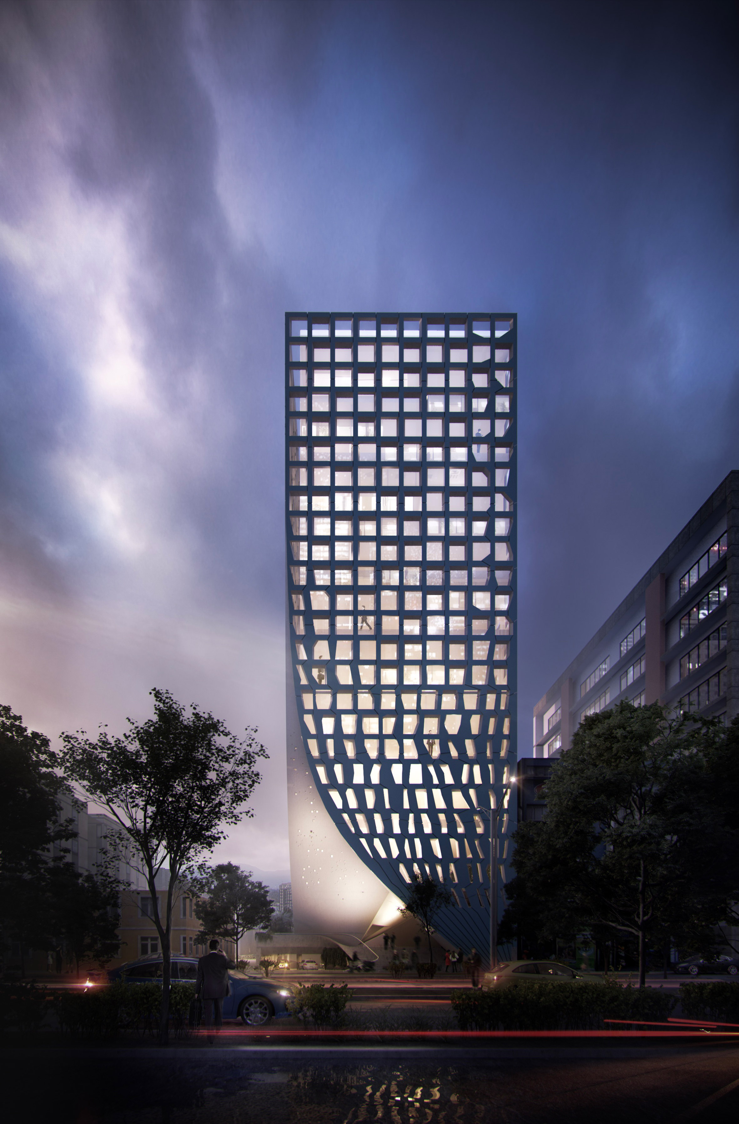 MAPmx's Mexico City tower to feature facades parted like draped curtains