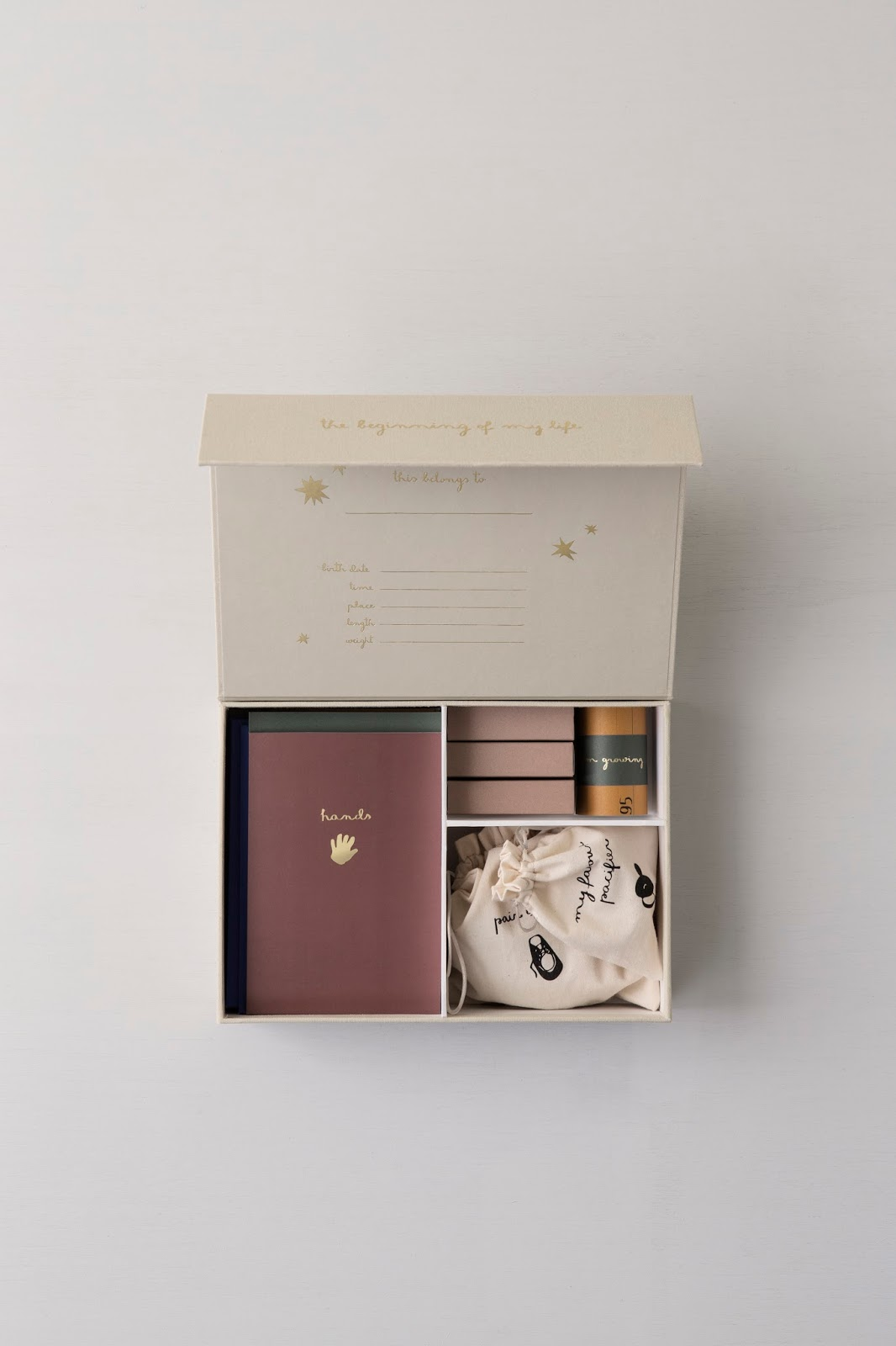 A simple memory box to document all your child's firsts