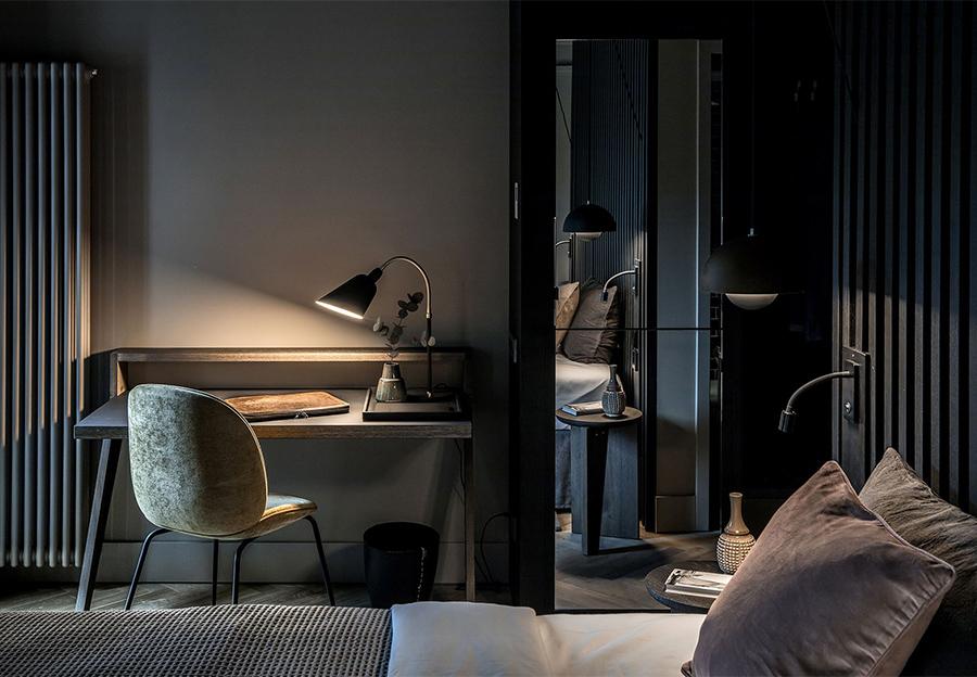 a warm, minimal hotel in Germany