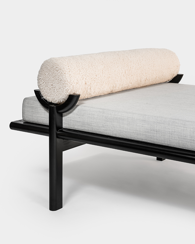 black crescent daybed