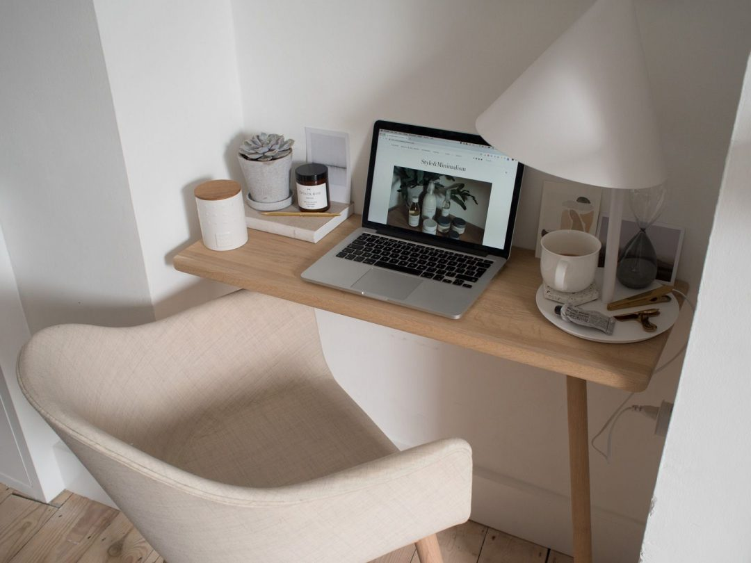 A Calming Minimal Home Workspace