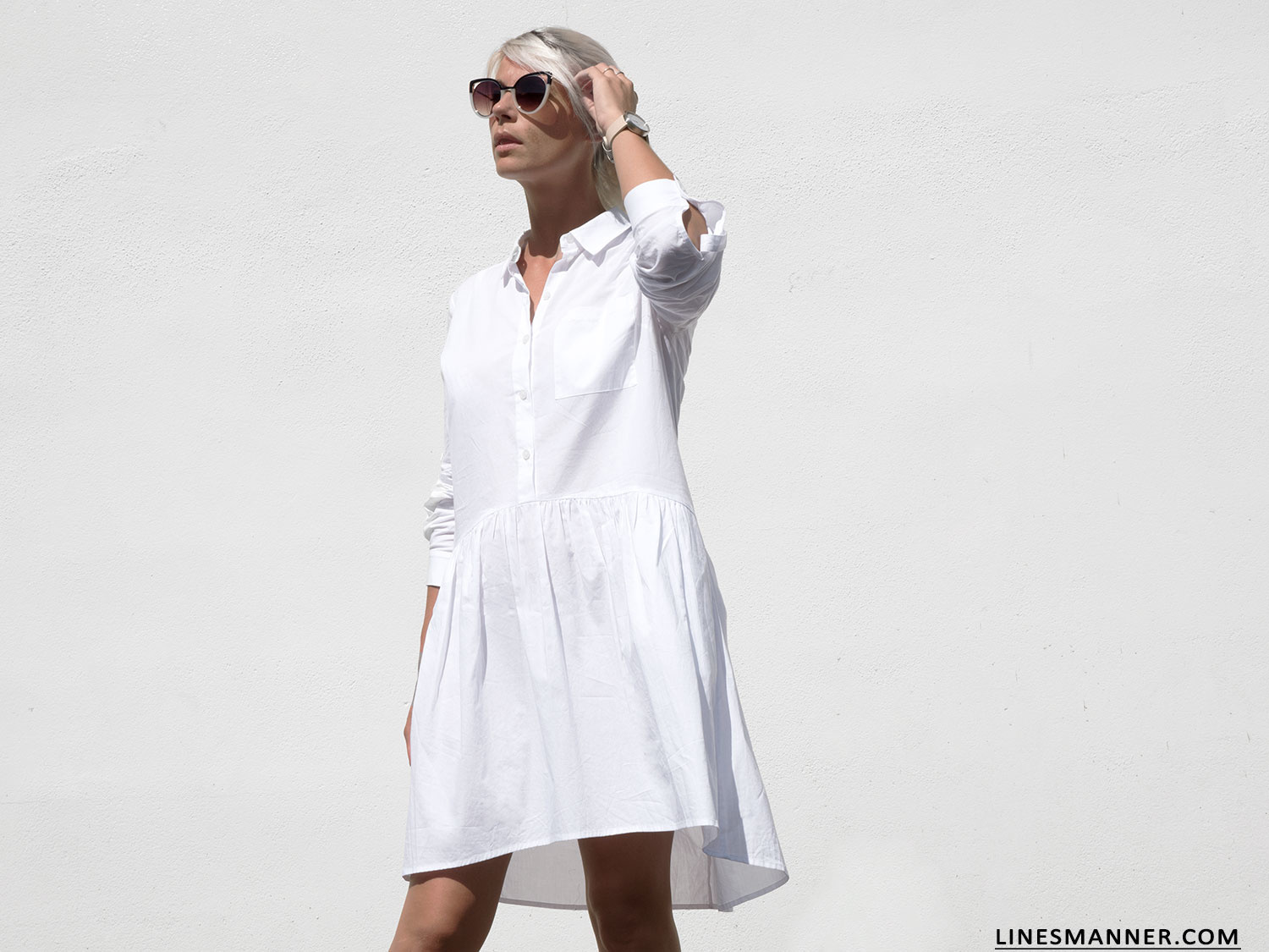 Decjuba – White Shirt Dress
