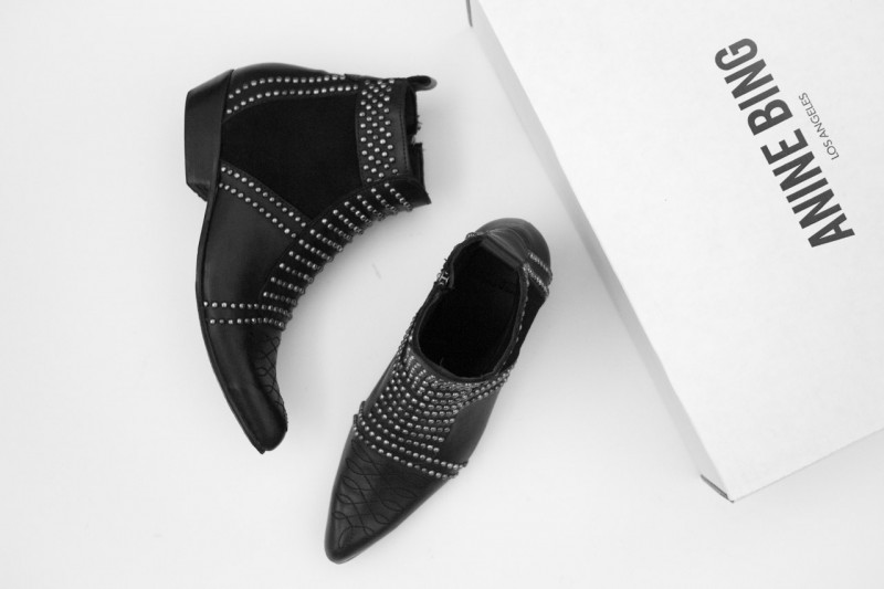 Anine Bing Stud Ankle Boots