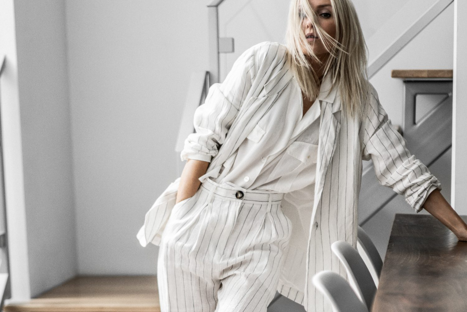 Striped Suiting