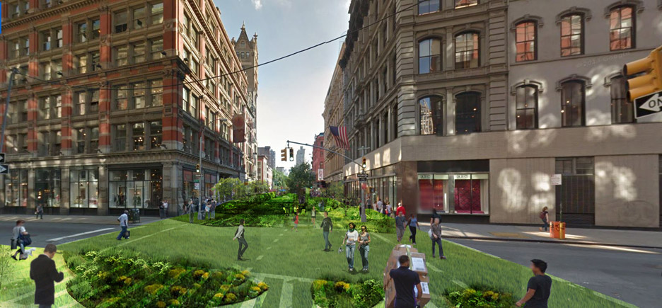 Perkins Eastman proposes turning New York's Broadway into one long