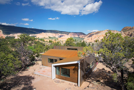 Imbue Design completes a rusty steel dwelling in the Utah desert