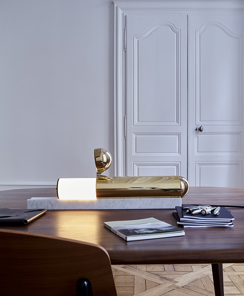 DCW Editions lamp is encapsulated in brass