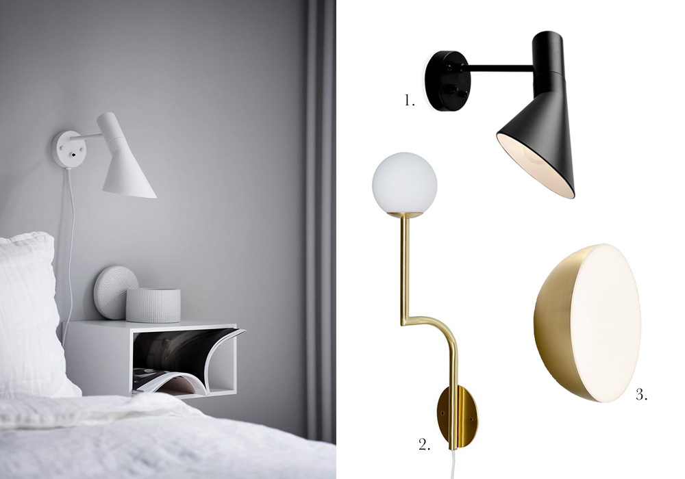 6 wall lamps for your bedside