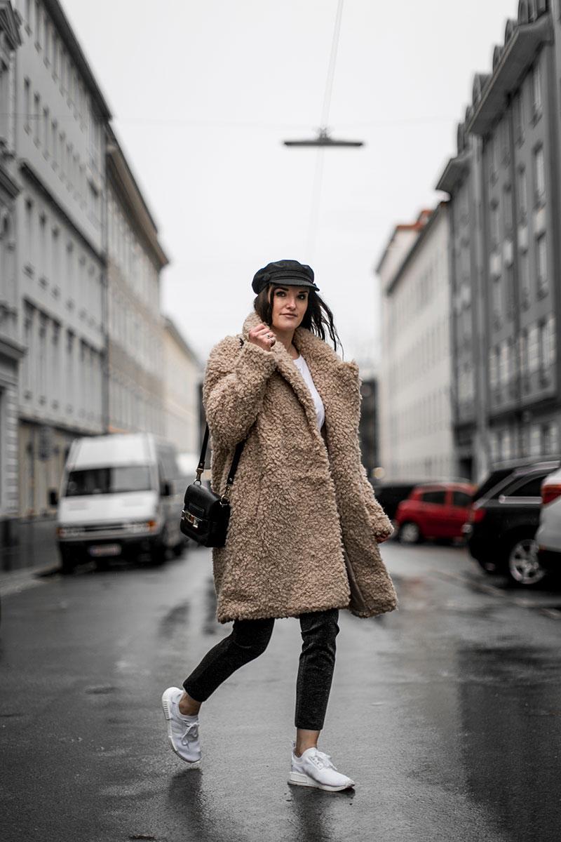 offline today & brown teddy coat