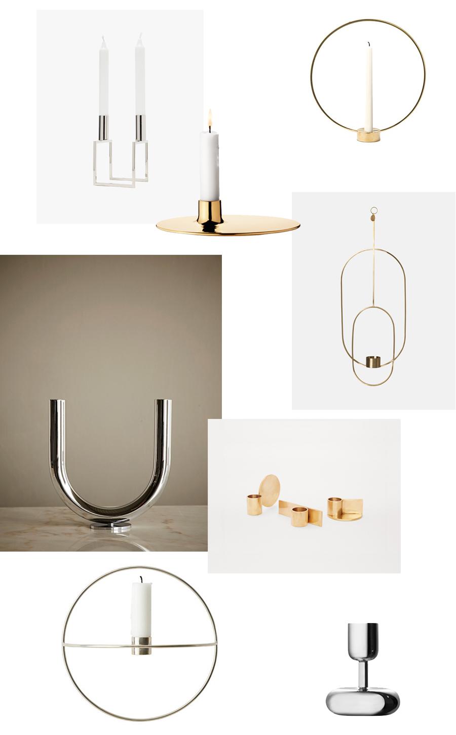 8 metallic candle holders