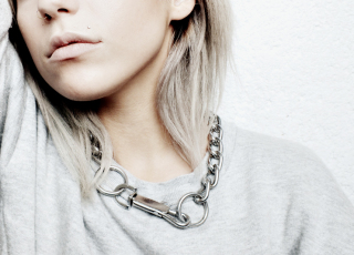 DIY chunky chain necklace