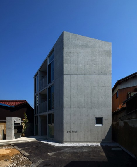 Alphaville S Hikone Studio Apartments Are Housed In An Angular Concrete Block
