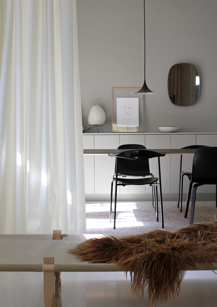 More than a curtain, Ready Made also serves as a flexible room divider