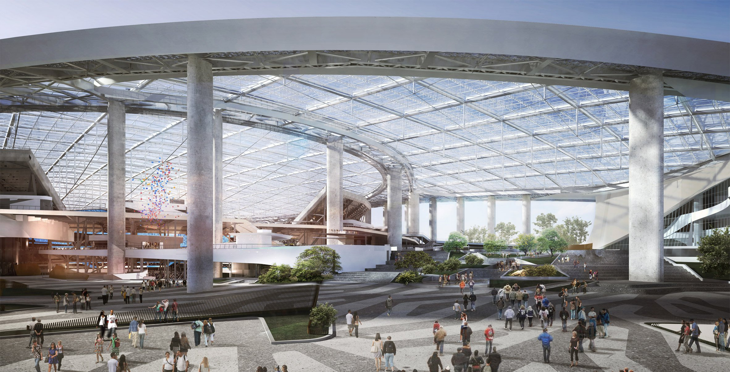 Construction begins on massive stadium for American football team LA Rams