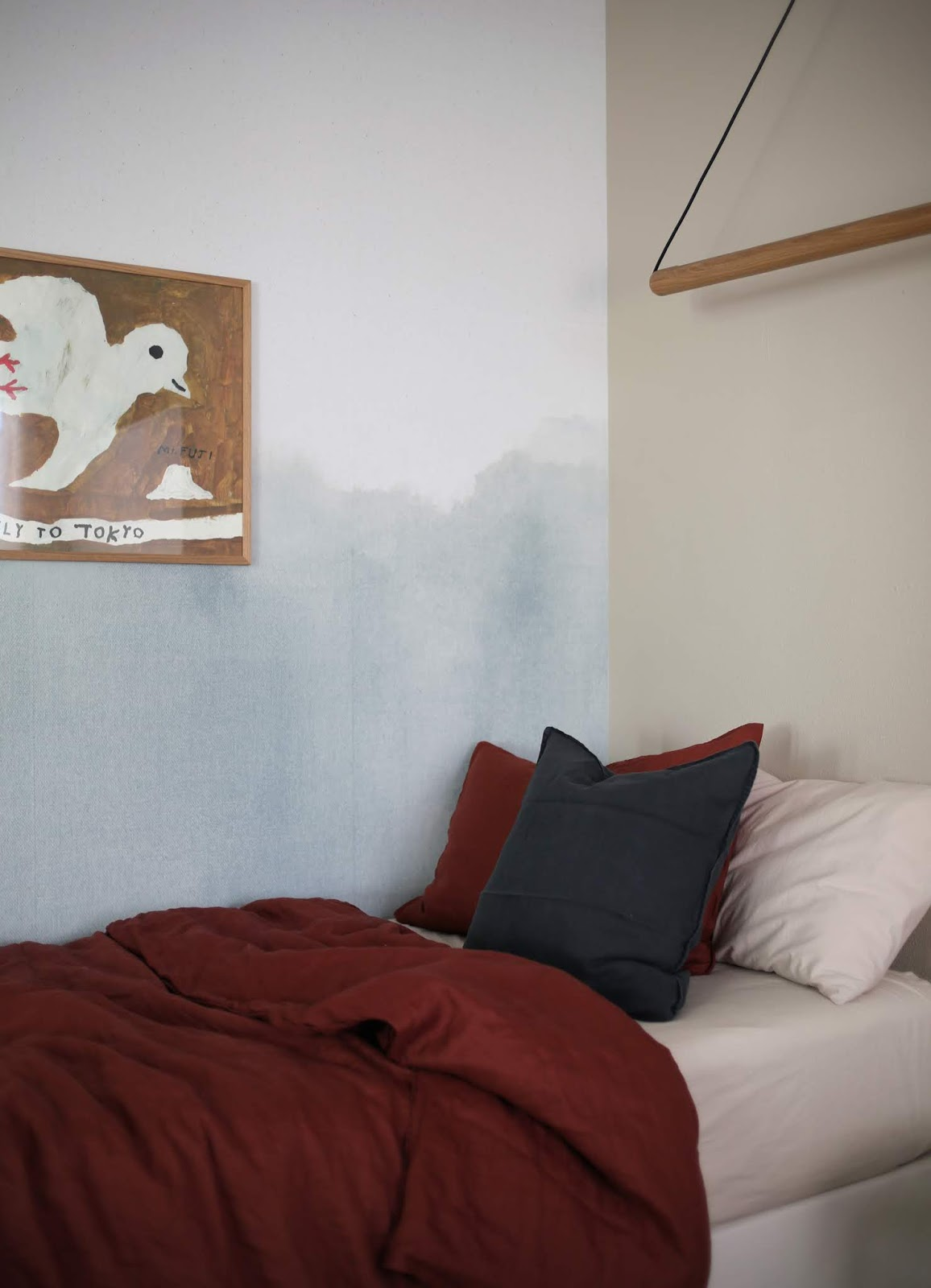 Before and After in my Son's Room with Minted Wall Murals