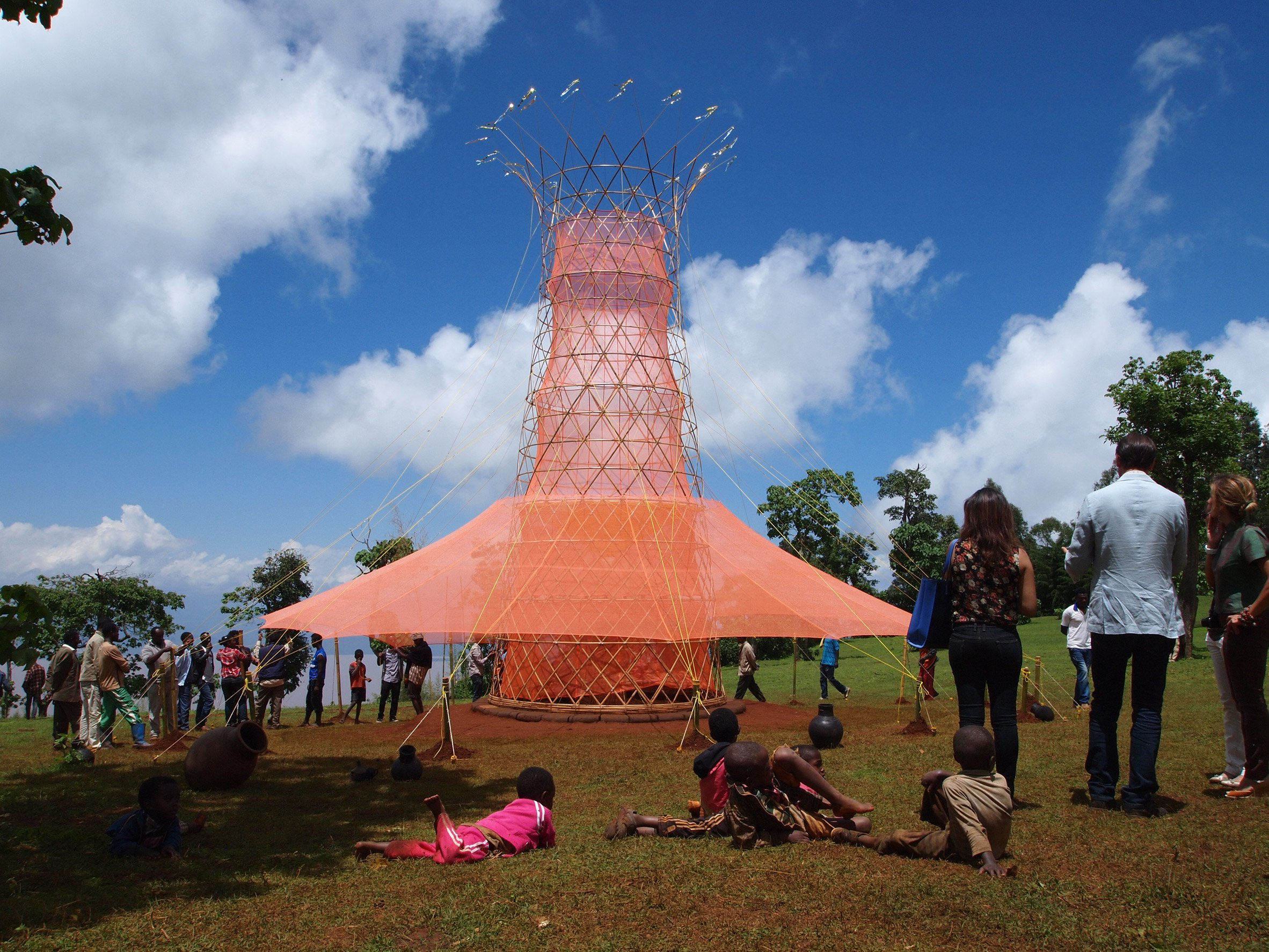 Arturo Vittori's Warka Water towers harvest clean drinking water from the air