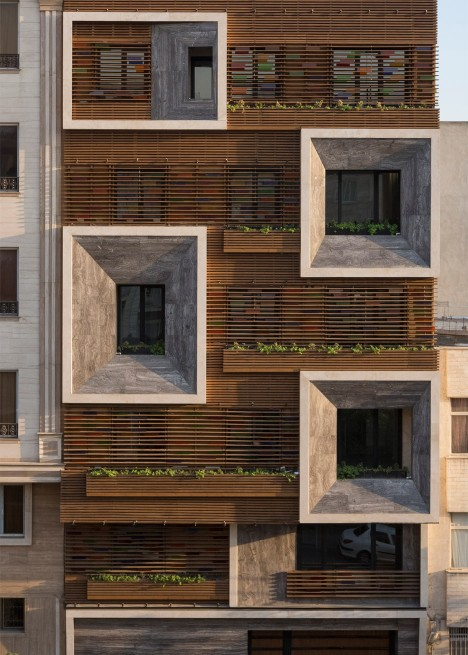 Tehran apartment block by keivani architects features for New residential windows
