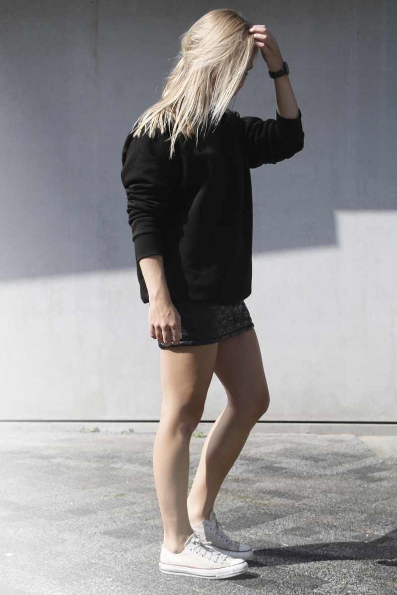 QUILTED LEATHER SKIRT | Minimal Blogs : quilted leather skirt - Adamdwight.com