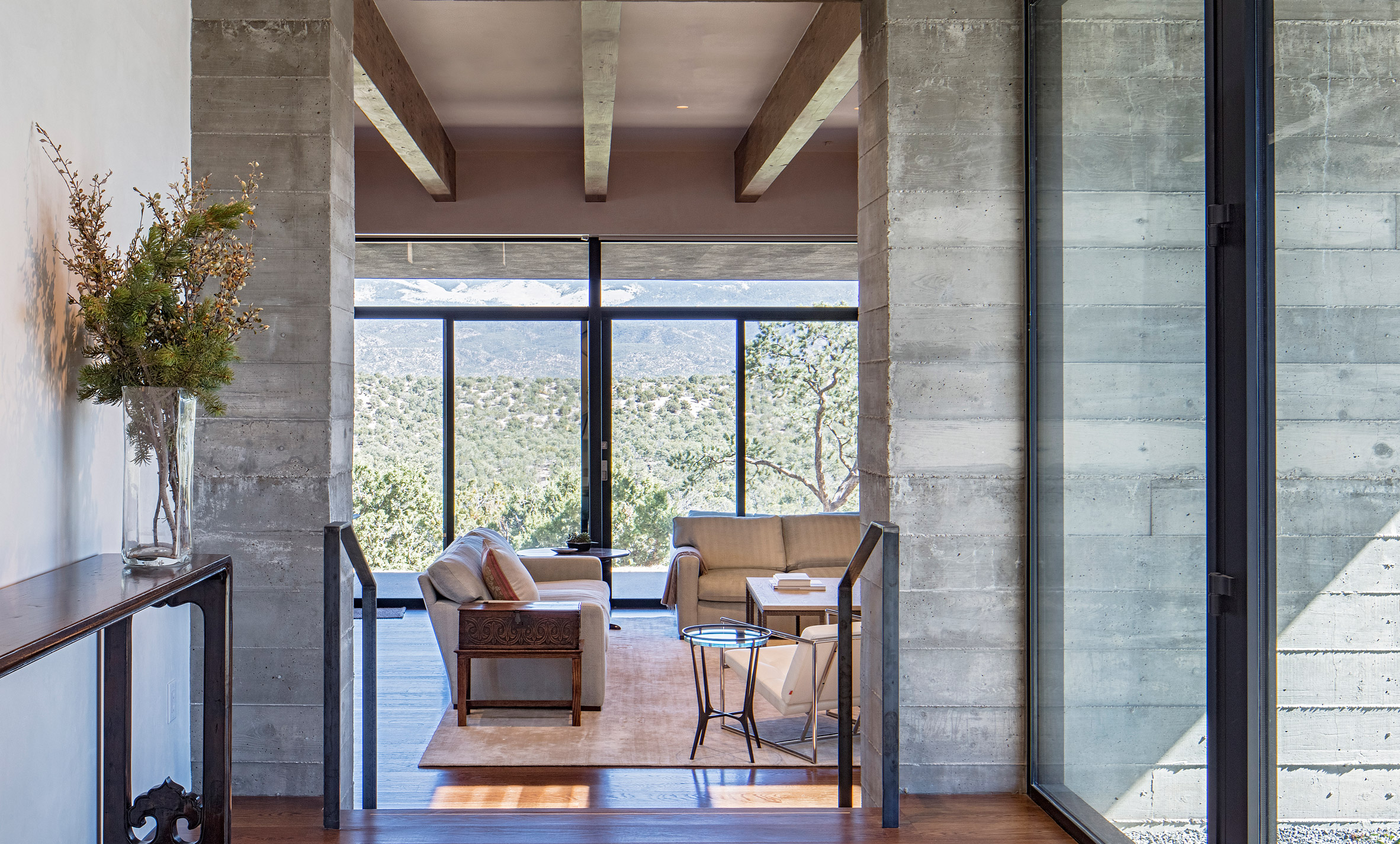 Specht Architects orients recessed New Mexico house towards desert vistas