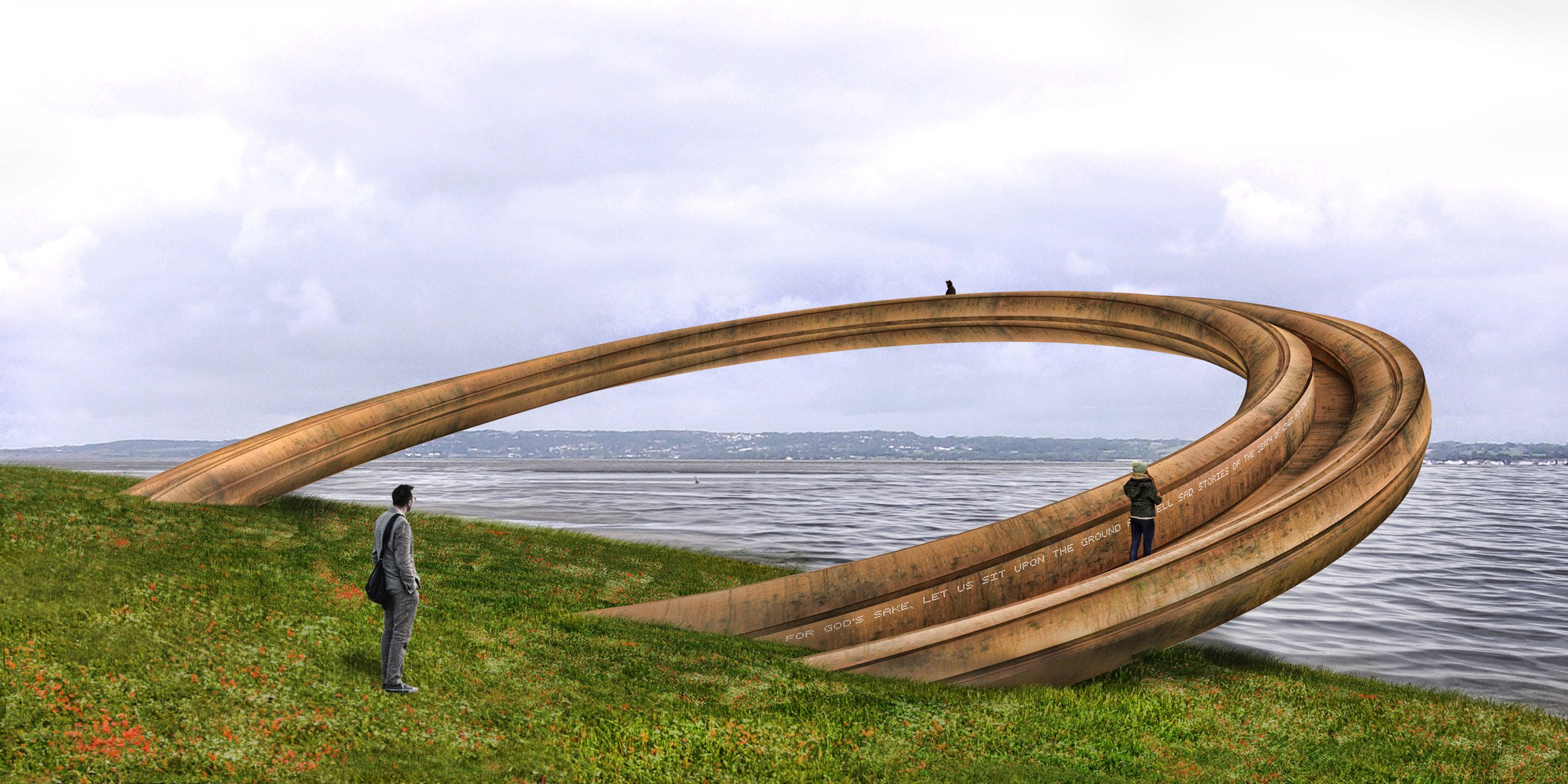"""Plans put on hold for """"deeply offensive""""Iron Ringsculpture at Wales' Flint Castle"""