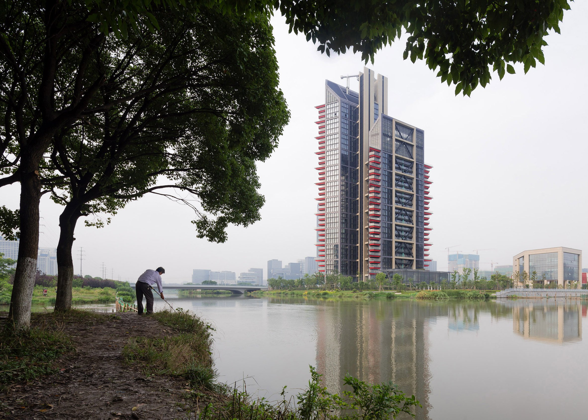 Photographer Marc Goodwin reveals new buildings under construction in Chinese city Ningbo