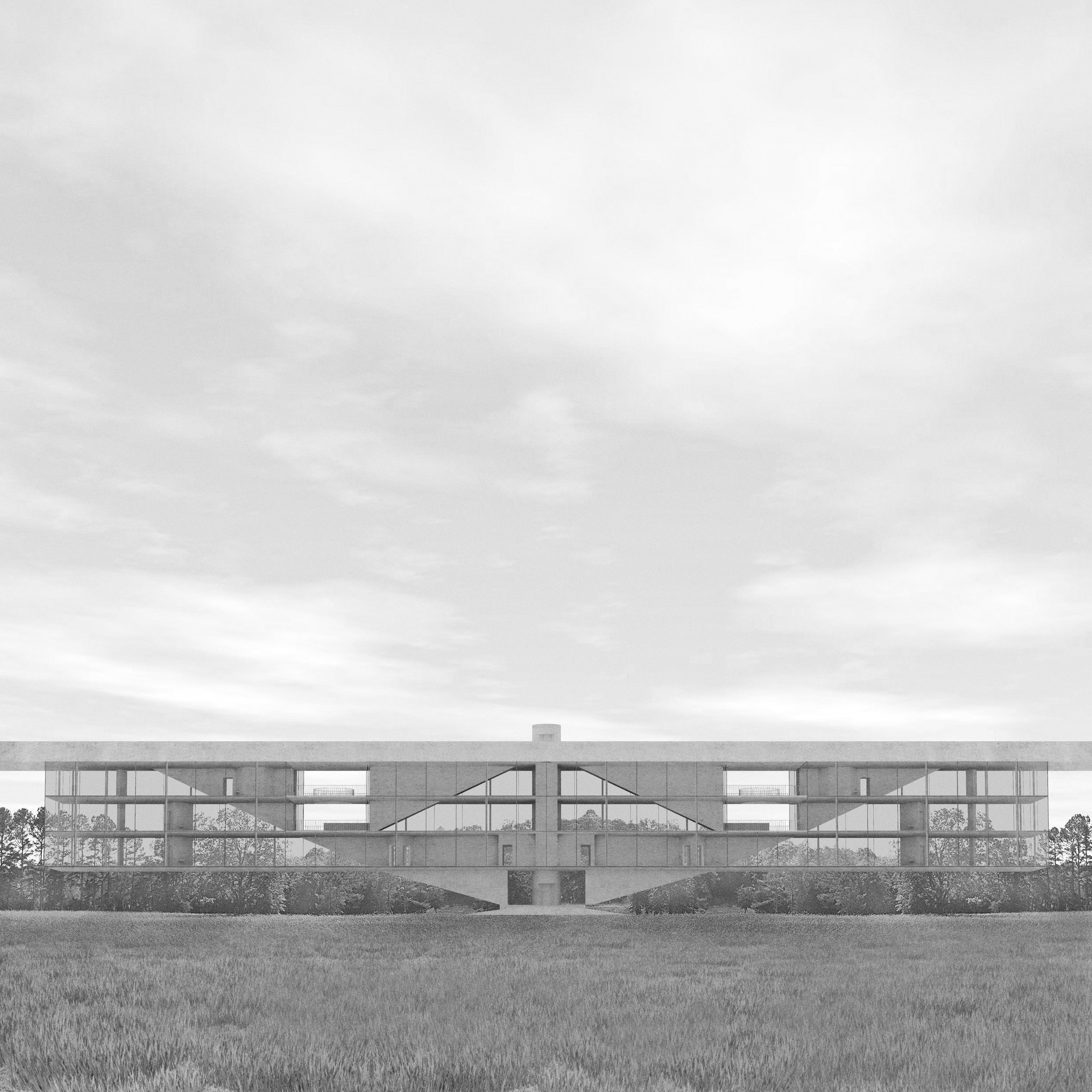 Llywelyn James proposes affordable cantilevered housing for London's brownfield sites