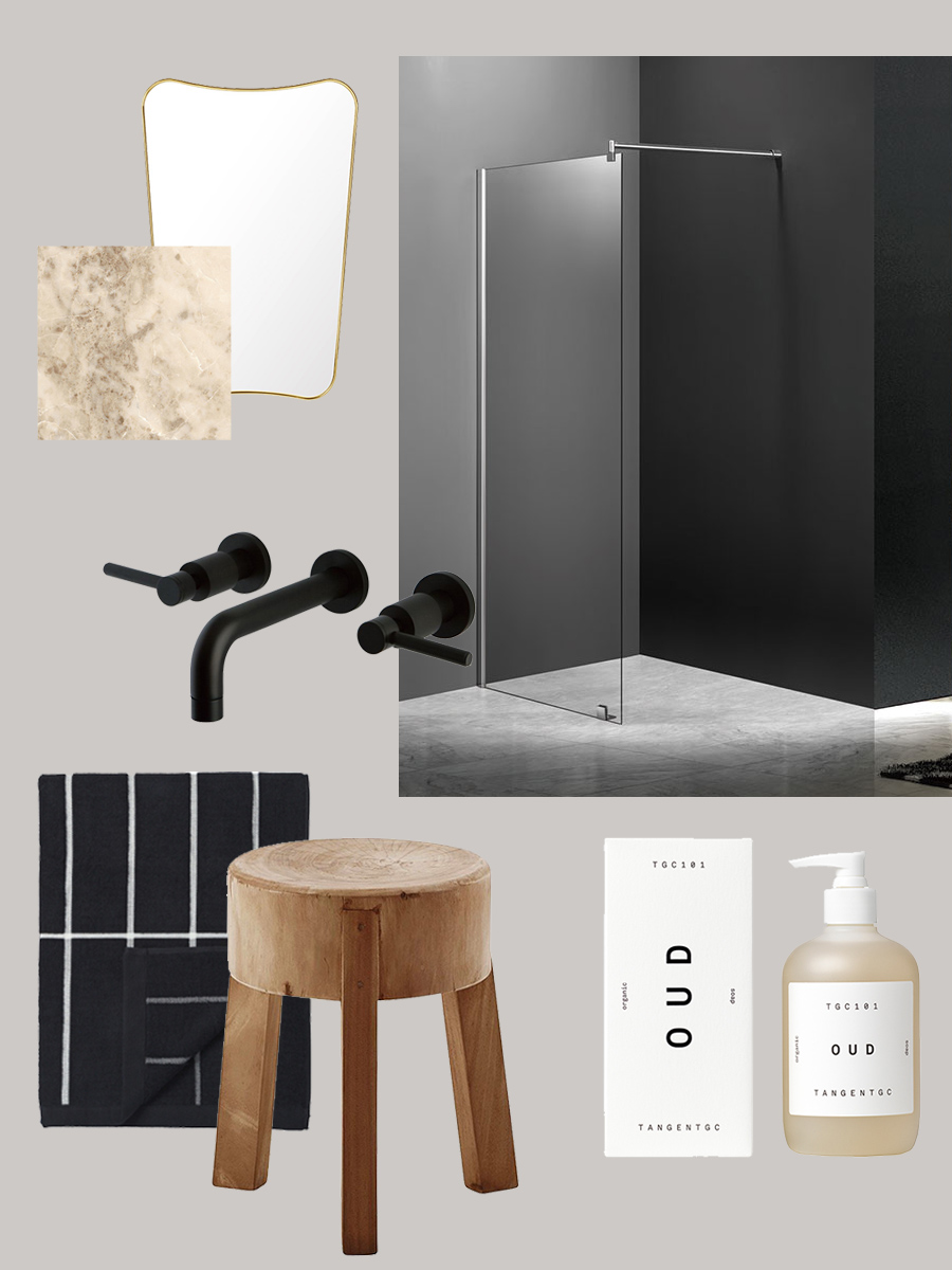 building a bathroom, start with the shower