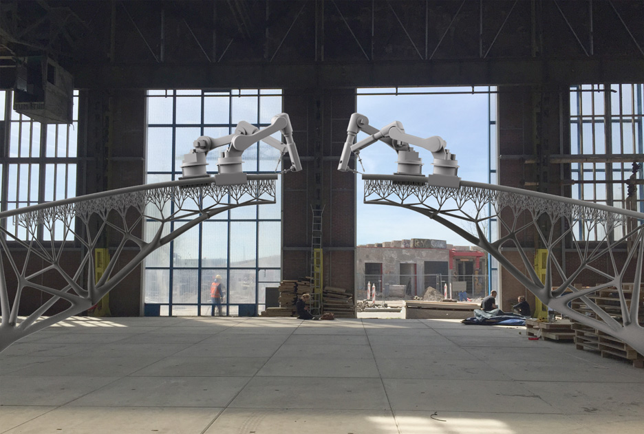 "Producing the world's first 3D-printed bridge with robots ""is just the beginning"""