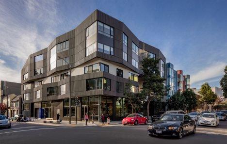 Fougeron Architecture clads San Francisco condo building in dark wooden dowels