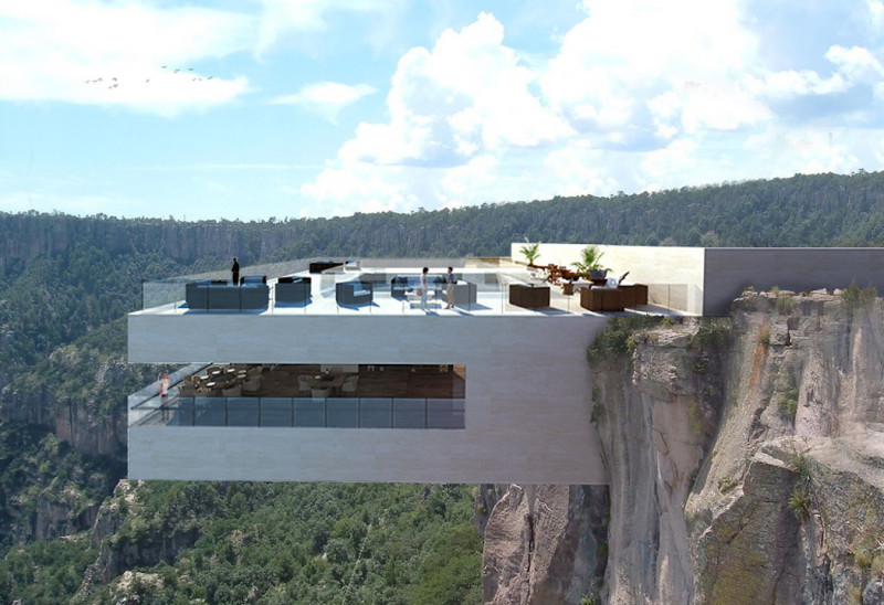 A Restaurant To Be Perched On A Steep Cliff