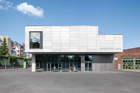 GMP Architekten's ballet facility features materials that reference its industrial setting