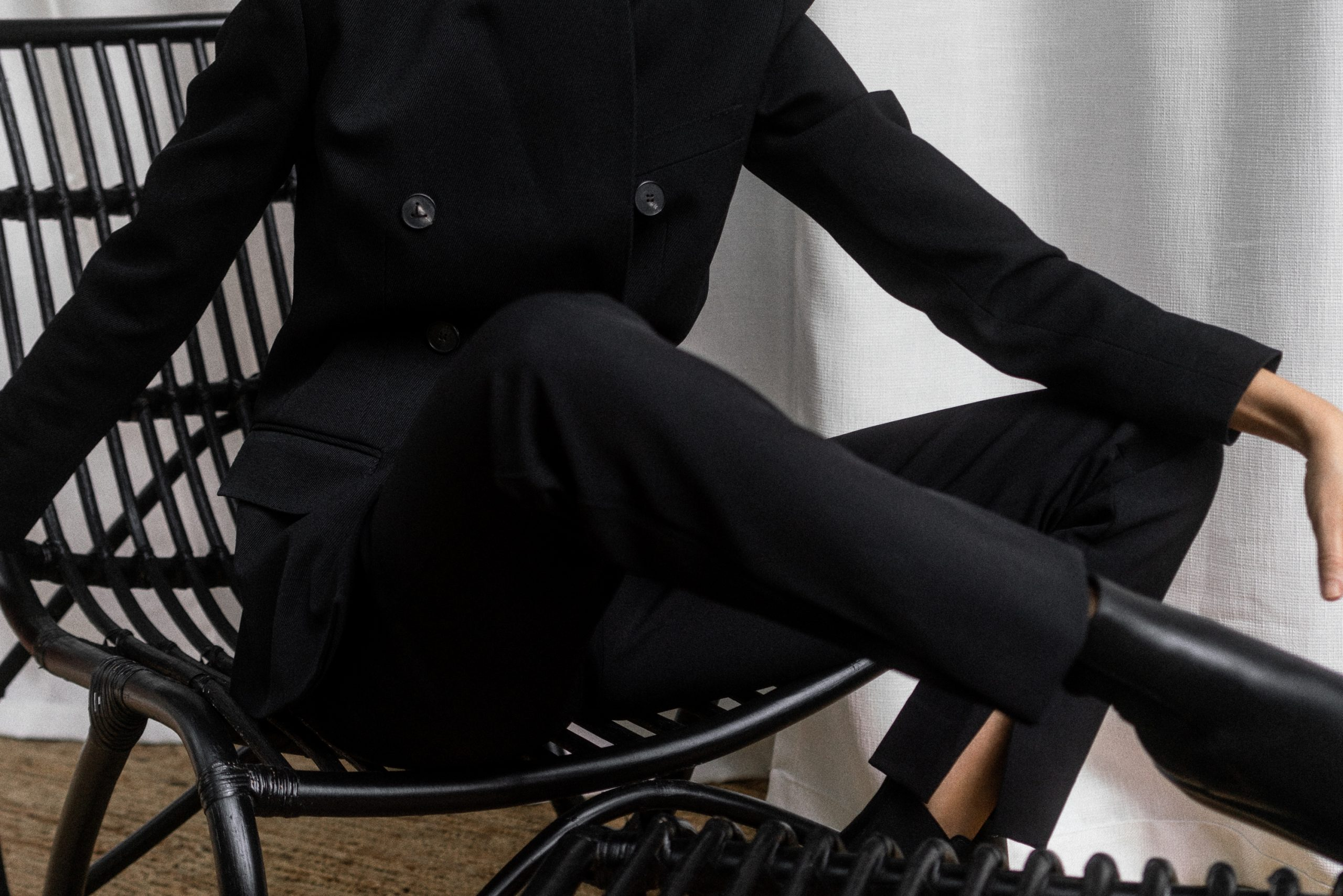 A Twist on Black Suiting