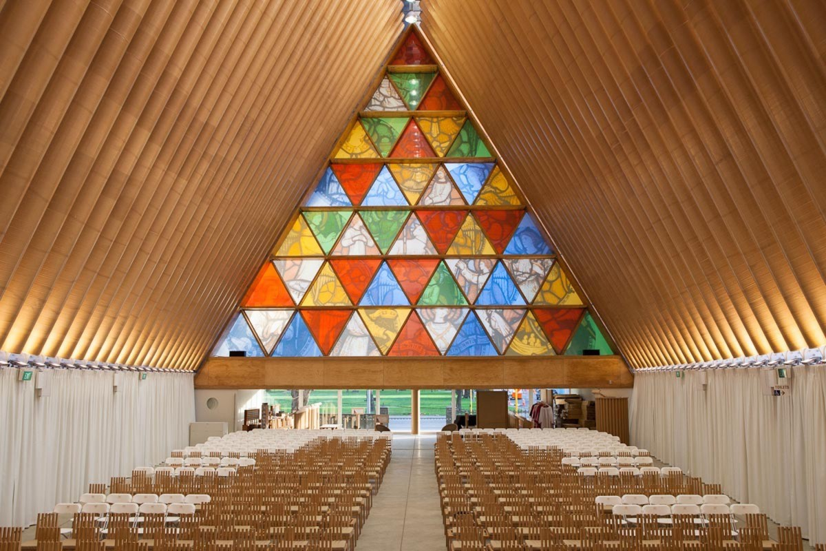 The Cardboard Cathedral By Shigeru Ban
