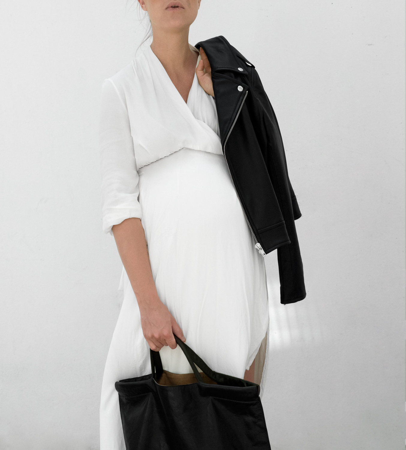 Leather Weather / Crepe Silk + Leathers Part 2⎮Pregnancy Style