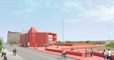 David Adjaye unveils designs for a red concrete art museum in Texas