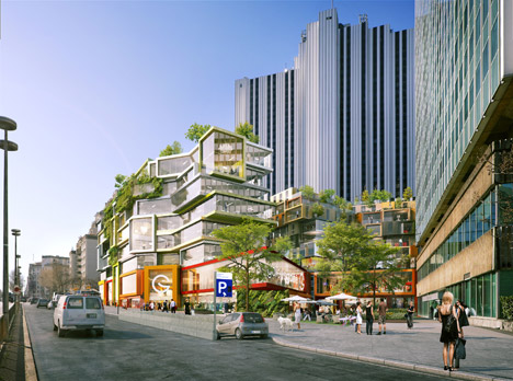 MVRDV wins approval for Vandamme Nord shopping centre facelift in Paris