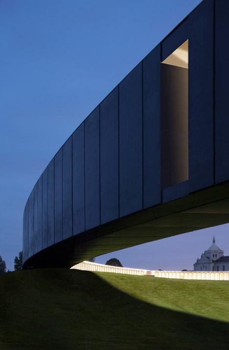 Philippe Prost's elliptical concrete memorial marks the centenary of World War I