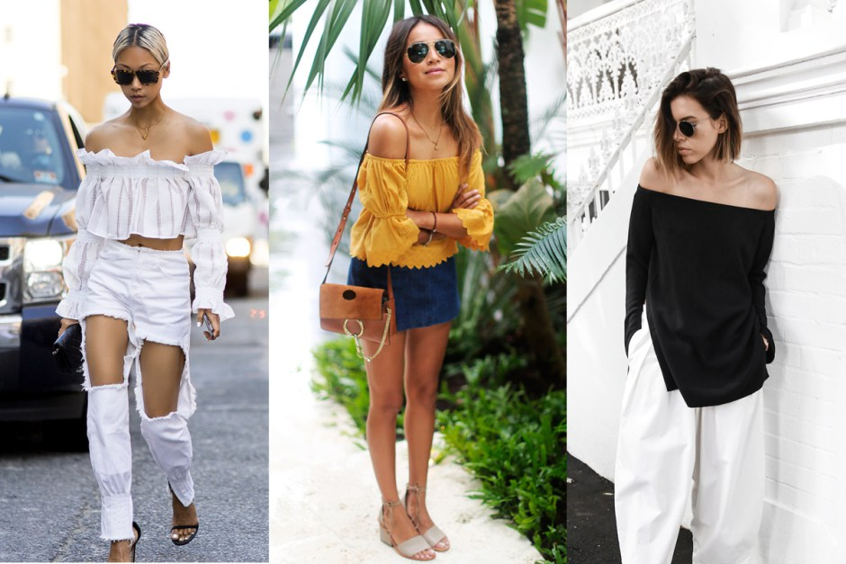 Blogger Style Watch: The Off-Shoulder Top