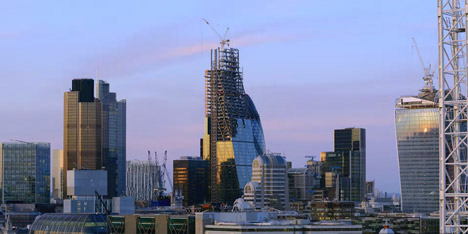 Rogers Stirk Harbour's Cheesegrater skyscraper documented in timelapse film