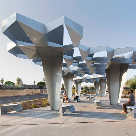 Blank Studio proposes fibre canopies for sun-drenched Arizona streets