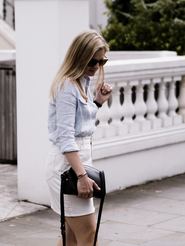 Denim Skirts & Linen Shirts
