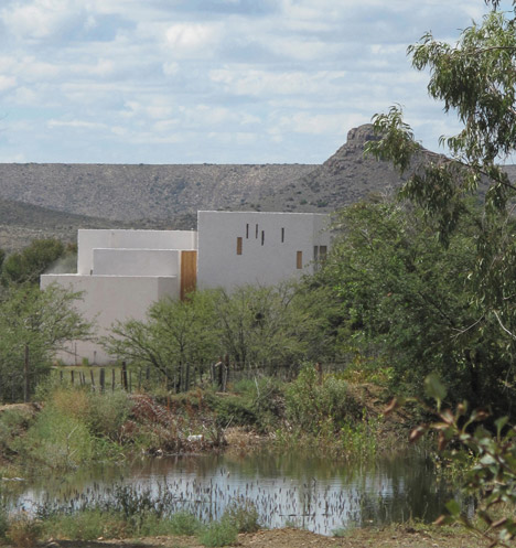 Slot windows offer starry views from Swartberg House by Openstudio Architects