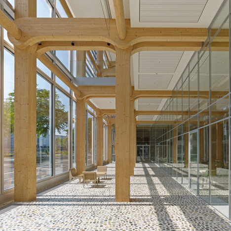 Shigeru Ban's timber-framed office building in Switzerland shown in new movie
