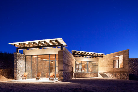 The Cave is a rammed-earth and stone villa in a Mexico wildlife conservation facility