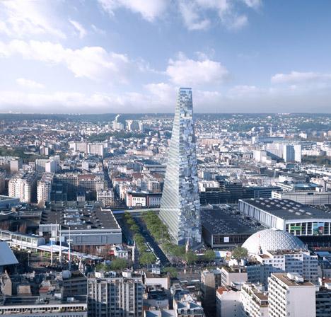 Herzog & de Meuron's triangular tower rejected by Paris councillors