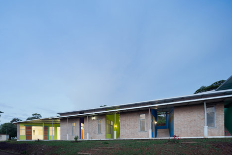 Solar-powered housing by Louise Braverman accommodates medical staff in an African village