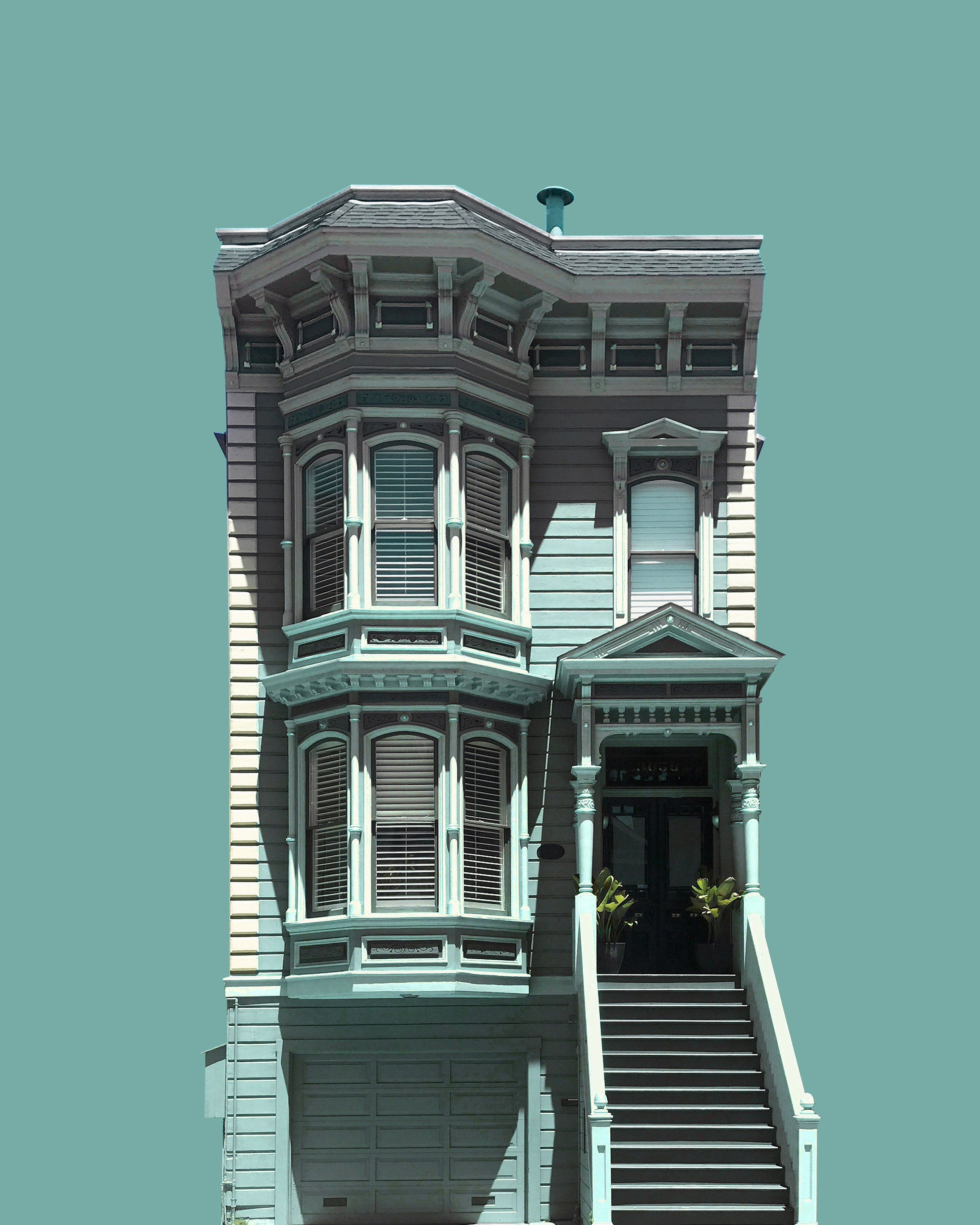 """Eric Randall Morris mutates architectural photos to show """"a distorted vision of the American dream"""""""