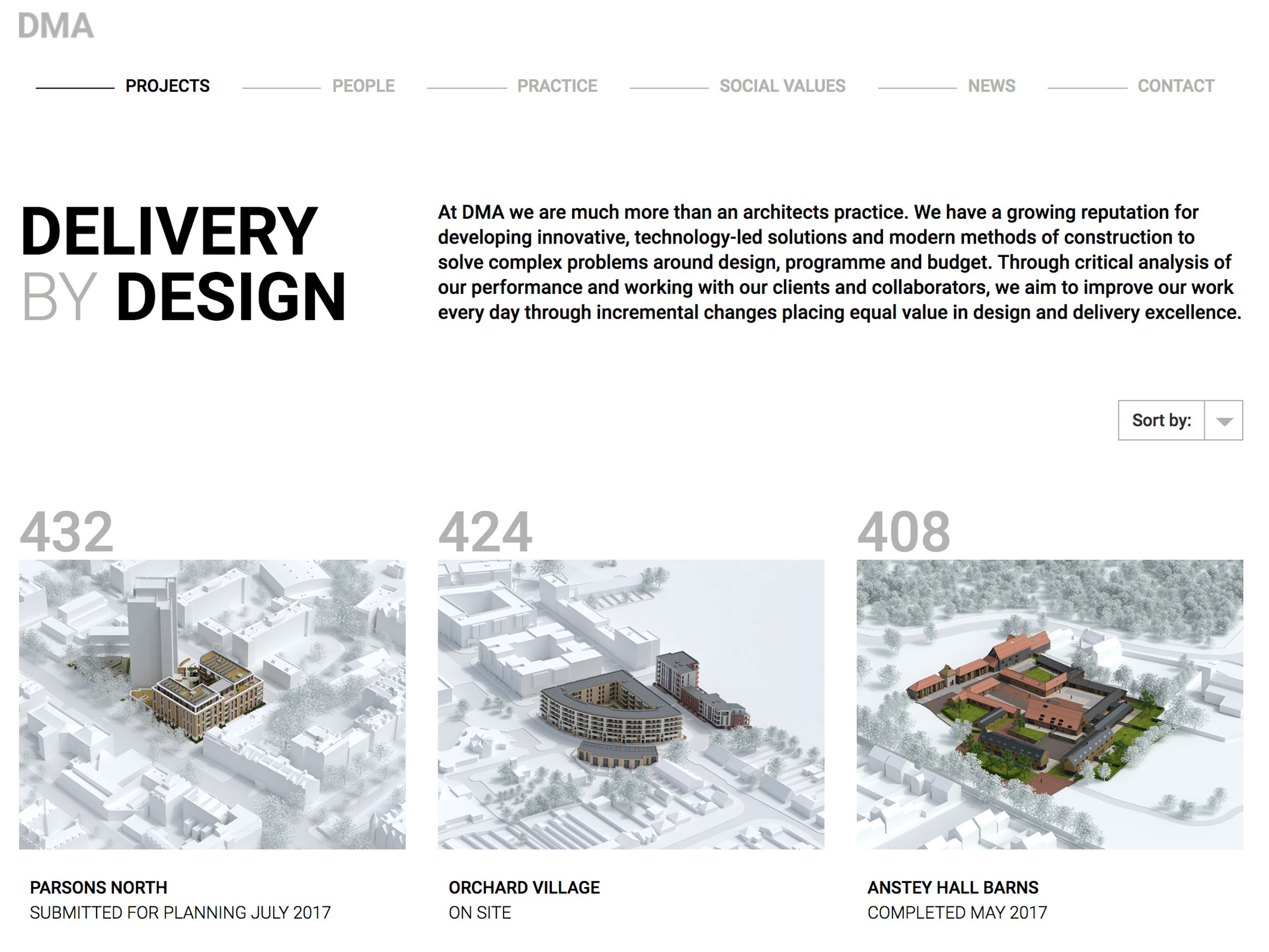 David Miller Architects wins award for best architect's website