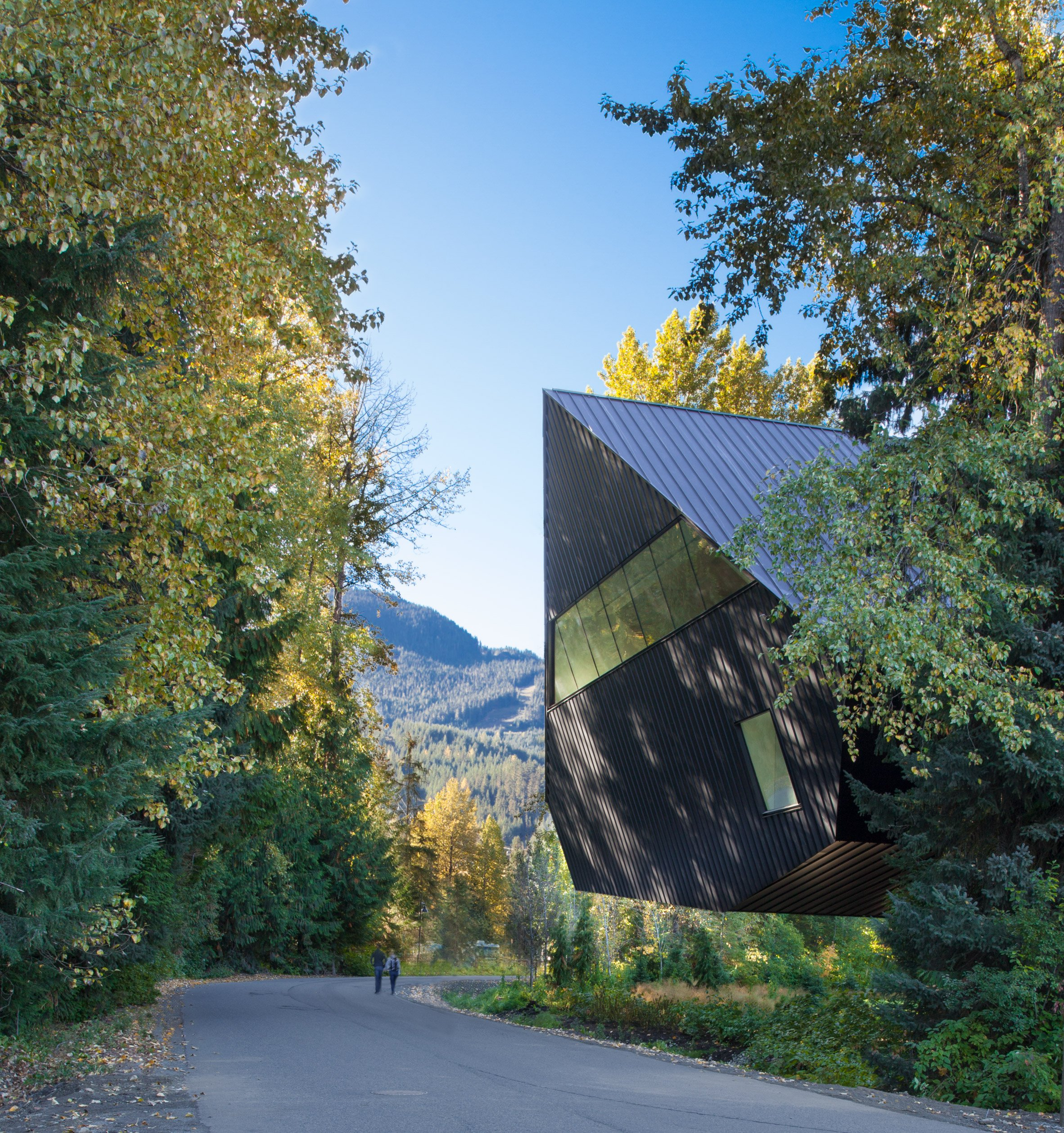 Pitched roofs and wooden slats characterise Audain Art Museum by Patkau Architects